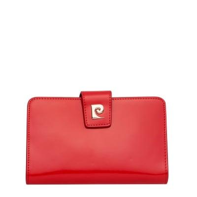 Дамско червено портмоне - средно, гланц PIERRE CARDIN