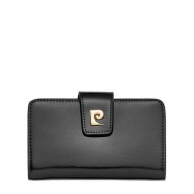 Дамско портмоне PIERRE CARDIN черно с лаково покритие