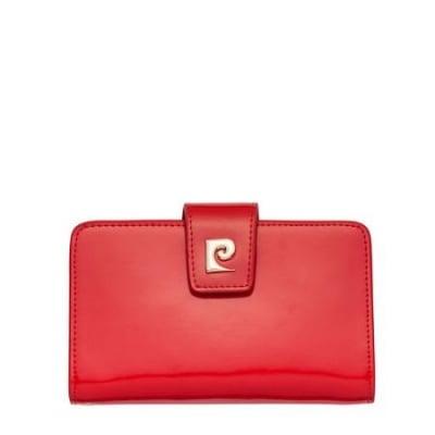 Дамско портмоне PIERRE CARDIN червено с лаково покритие