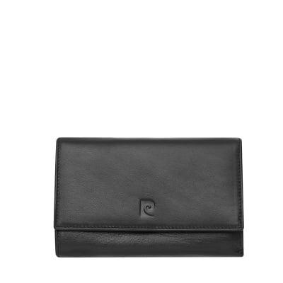 Дамско портмоне - черно дребен шагрен PIERRE CARDIN