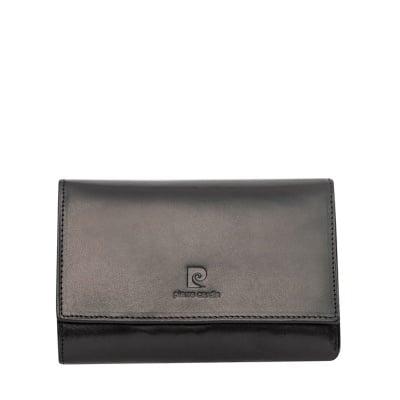 Дамско портмоне - черно гладко PIERRE CARDIN