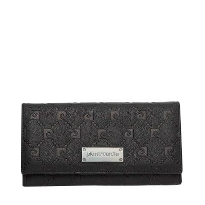 Дамско черно портмоне, еко кожа PIERRE CARDIN