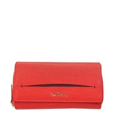 Дамско портмоне  PIERRE CARDIN червено-черно