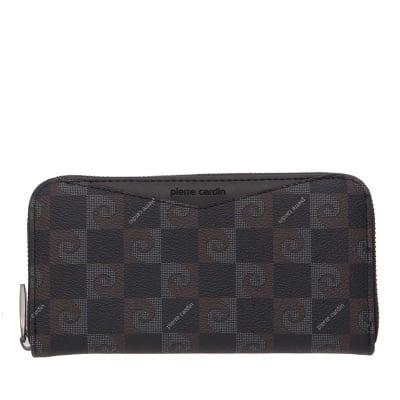 Дамско портмоне в черно с  щампа - PIERRE CARDIN