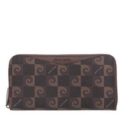 Дамско портмоне в кафяво с  щампа - PIERRE CARDIN
