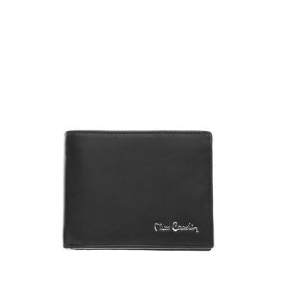 Мъжки портфейл черен мат с отделения