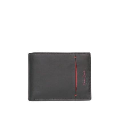 Мъжки черен портфейл PIERRE CARDIN -  с вертикална черта