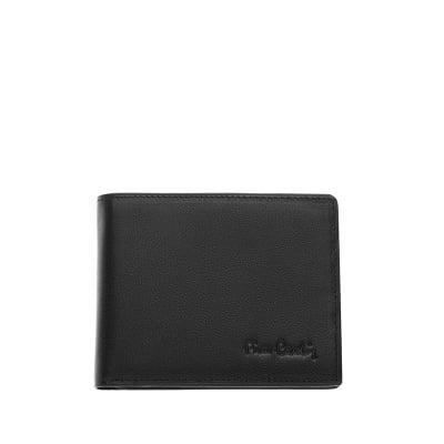 Мъжки черен портфейл с ембосинг емблема