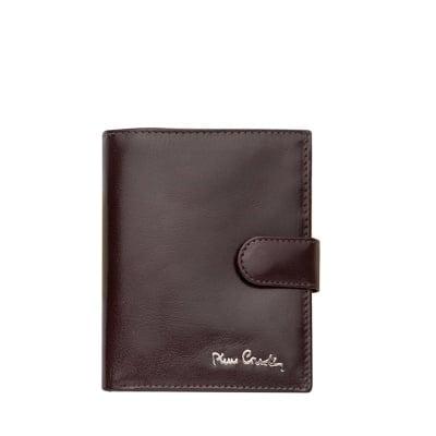 Мъжки портфейл PIERRE CARDIN -  тъмно кафяв, гладка кожа