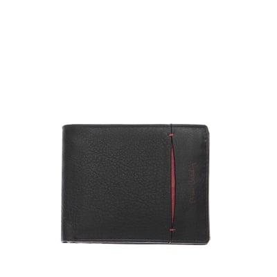 Мъжки  стилен портфейл  с вертикална червена черта