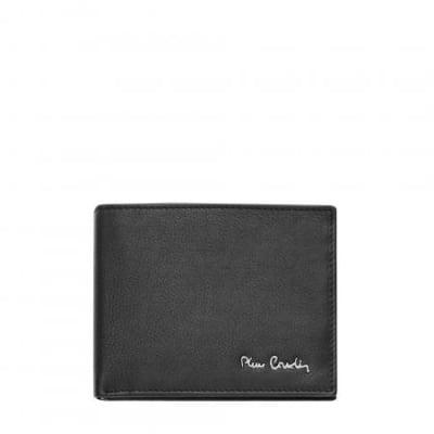 Мъжки портфейл PIERRE CARDIN черен с отделение за банкноти и монети