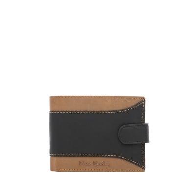 Мъжки спортен портфейл кафяво и черено -  малък PIERRE CARDIN