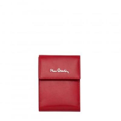 Калъф за документи PIERRE CARDIN червен естествена кожа
