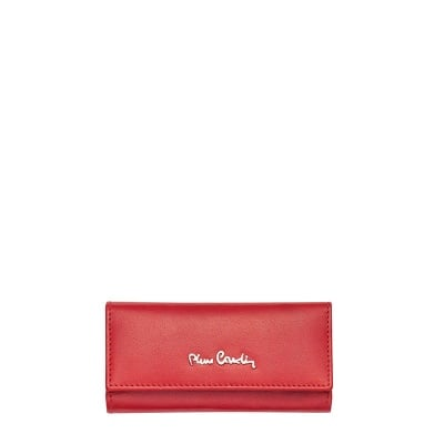 Калъф за ключове червен с клипс PIERRE CARDIN