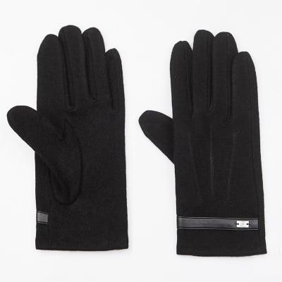 Черни вълнени ръкавици - PIERRE CARDIN