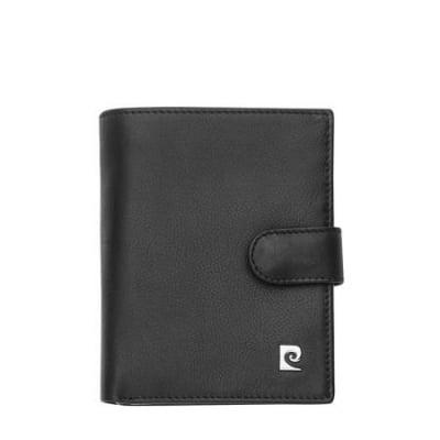 Мъжки портфейл PIERRE CARDIN черен вертикален естествена кожа