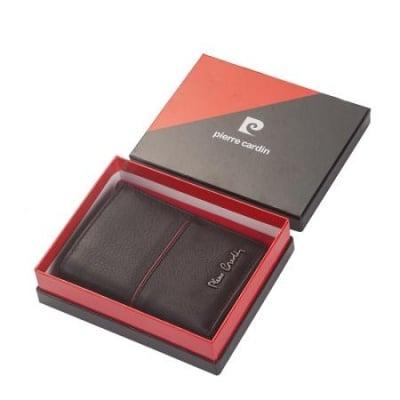 Мъжки портфейл с червена линия