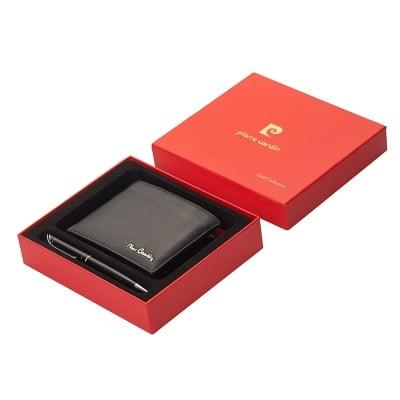 Луксозен комплект от портфейл и химикал - PIERRE CARDIN