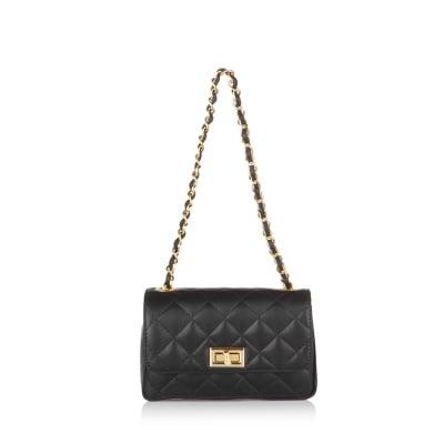 Дамска чанта черна PIERRE CARDIN, естествена кожа