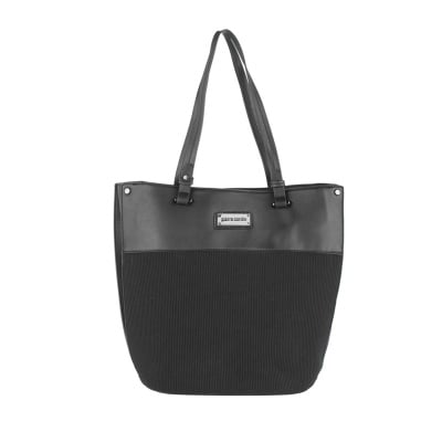 Дамска черна чанта- еко кожа Pierre Cardin