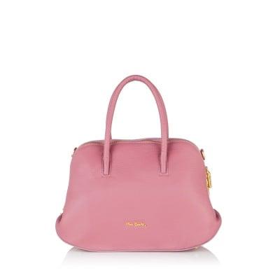 Дамска чанта от естествена кожа PIERRE CARDIN - розова