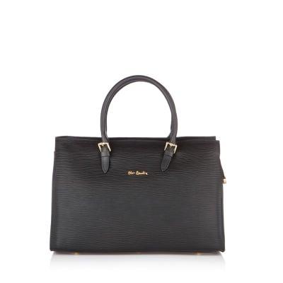 Дамска чанта PIERRE CARDIN от ест.кожа, черна