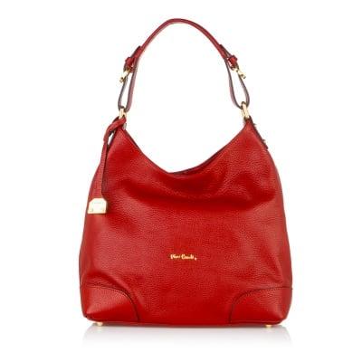 Дамска чанта PIERRE CARDIN  бордо, ест.кожа