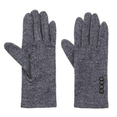 Тъмно сиви вълнени ръкавици - PIERRE CARDIN