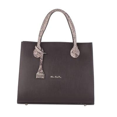 Дамска тъмнокафява чанта Ruga Pierre Cardin
