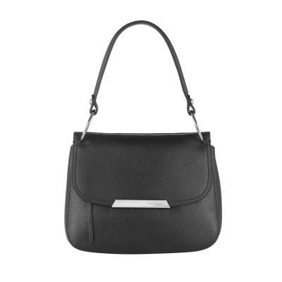 Стилна черна малка чанта Pierre Cardin