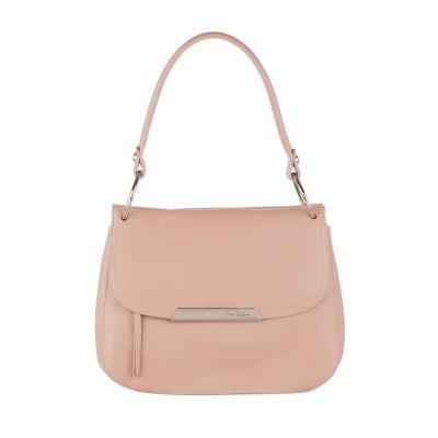 Стилна малка чанта цвят капучино Pierre Cardin