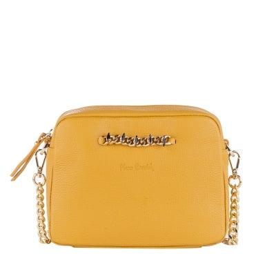 Малка дамска чанта горчица  Dolaro - Pierre Cardin