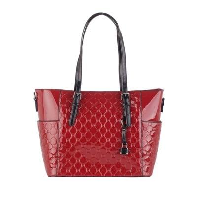 Дамска лачена червена чанта Pierre Cardin