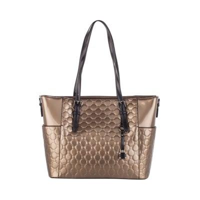 Дамска лачена златна чанта Pierre Cardin