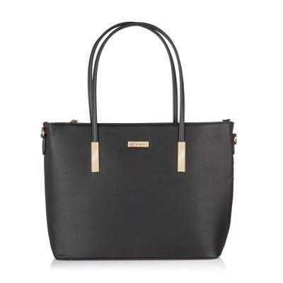 Дамска черна чанта от еко кожа PIERRE CARDIN