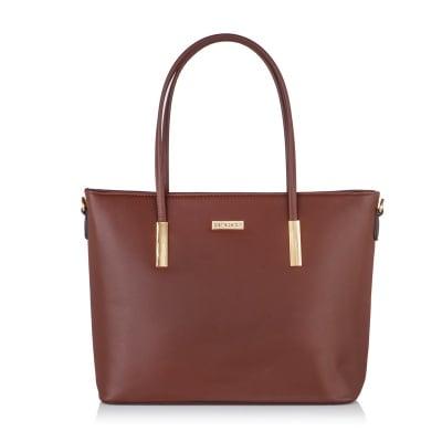 Дамска тъмно кафява чанта PIERRE CARDIN от еко кожа