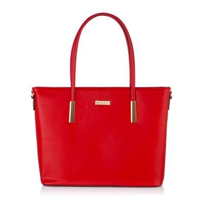 Дамска червена чанта от еко кожа PIERRE CARDIN