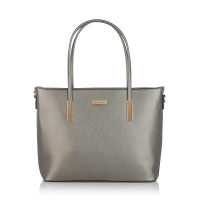 Дамска сива чанта от еко кожа PIERRE CARDIN