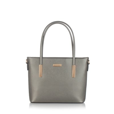 Дамска сива чанта от еко кожа PIERRE CARDIN - малка