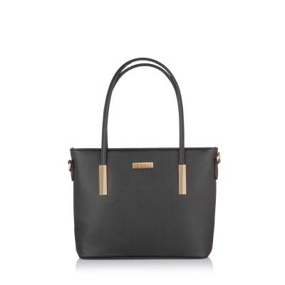 Дамска черна чанта от еко кожа PIERRE CARDIN - малка