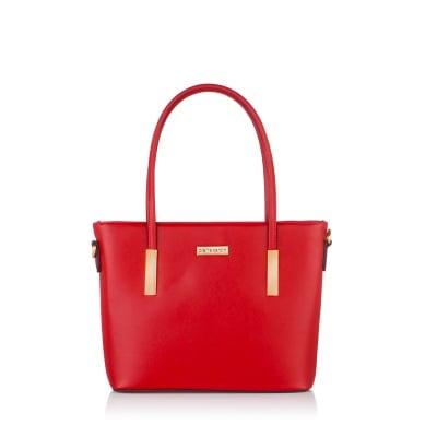 Дамска червена чанта от еко кожа PIERRE CARDIN - малка