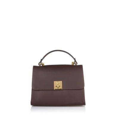 Дамска чанта PIERRE CARDIN тъмно кафява, голяма