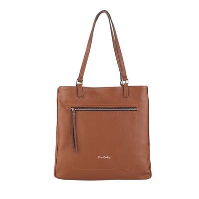 Дамска удобна светлокафява чанта Autunno Pierre Cardin
