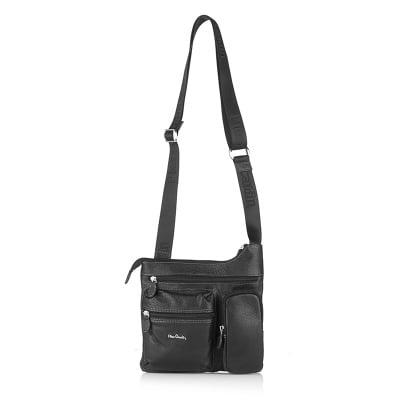 Мъжка чанта PIERRE CARDIN естествена кожа черна