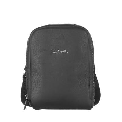 Мъжка черна чанта от естествена кожа