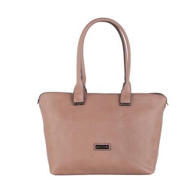Дамска елегантна светлокафяво чанта Pierre Cardin