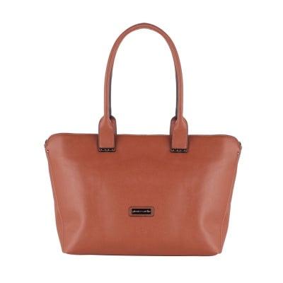 Дамска елегантна тъмнокафявa чанта Pierre Cardin