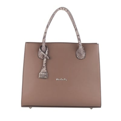 Дамска светлокафява чанта Ruga Pierre Cardin