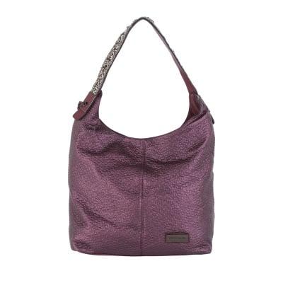 Дамска бляскава лилава чанта Pierre Cardin