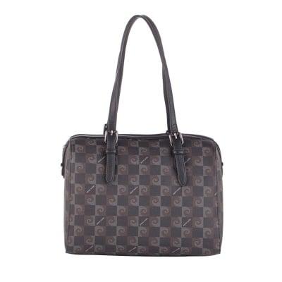 Дамска черна чанта с щампа